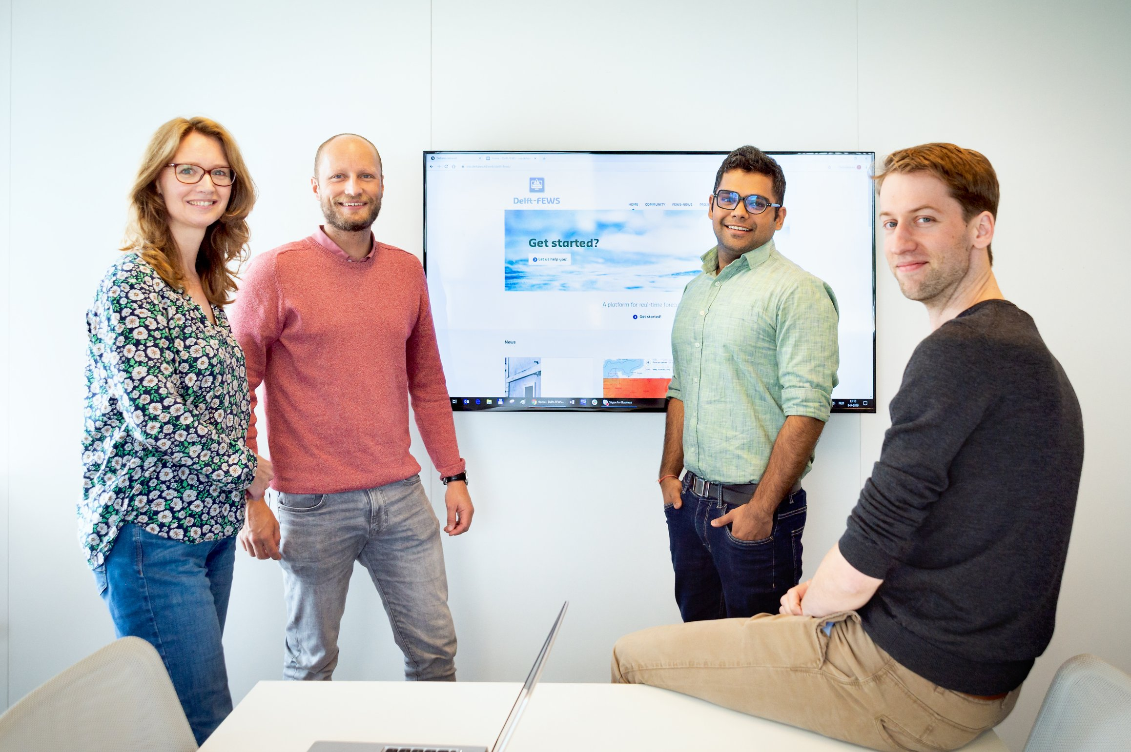 The Delft-FEWS moderators (from left to right): Ilonka, Martijn, Aashish, and Arjen