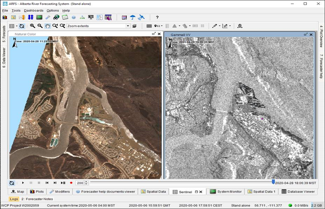 New in the Delft-FEWS 2020.01 version: Storage of true color imagery as gridded timeseries
